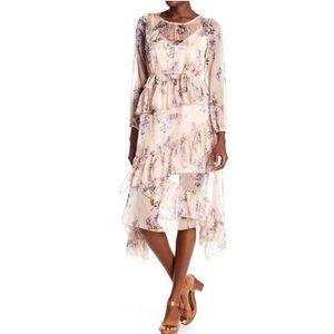 Few moda New York tiered ruffle dress NWT blush
